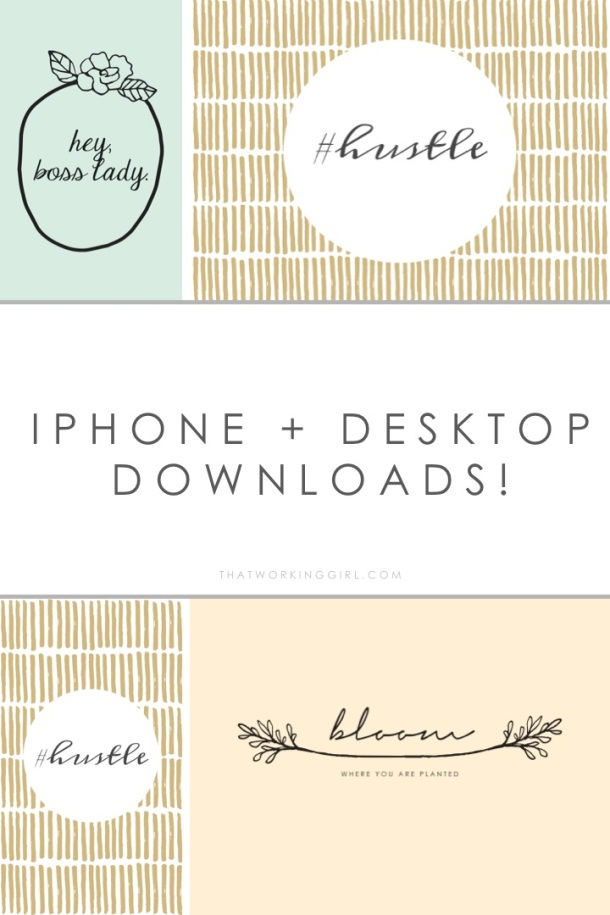 That Working Girl: Freebie Friday iPhone Backgrounds and Wallpapers